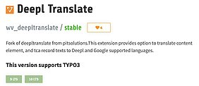 TYPO3 Extension: Deepl Translate