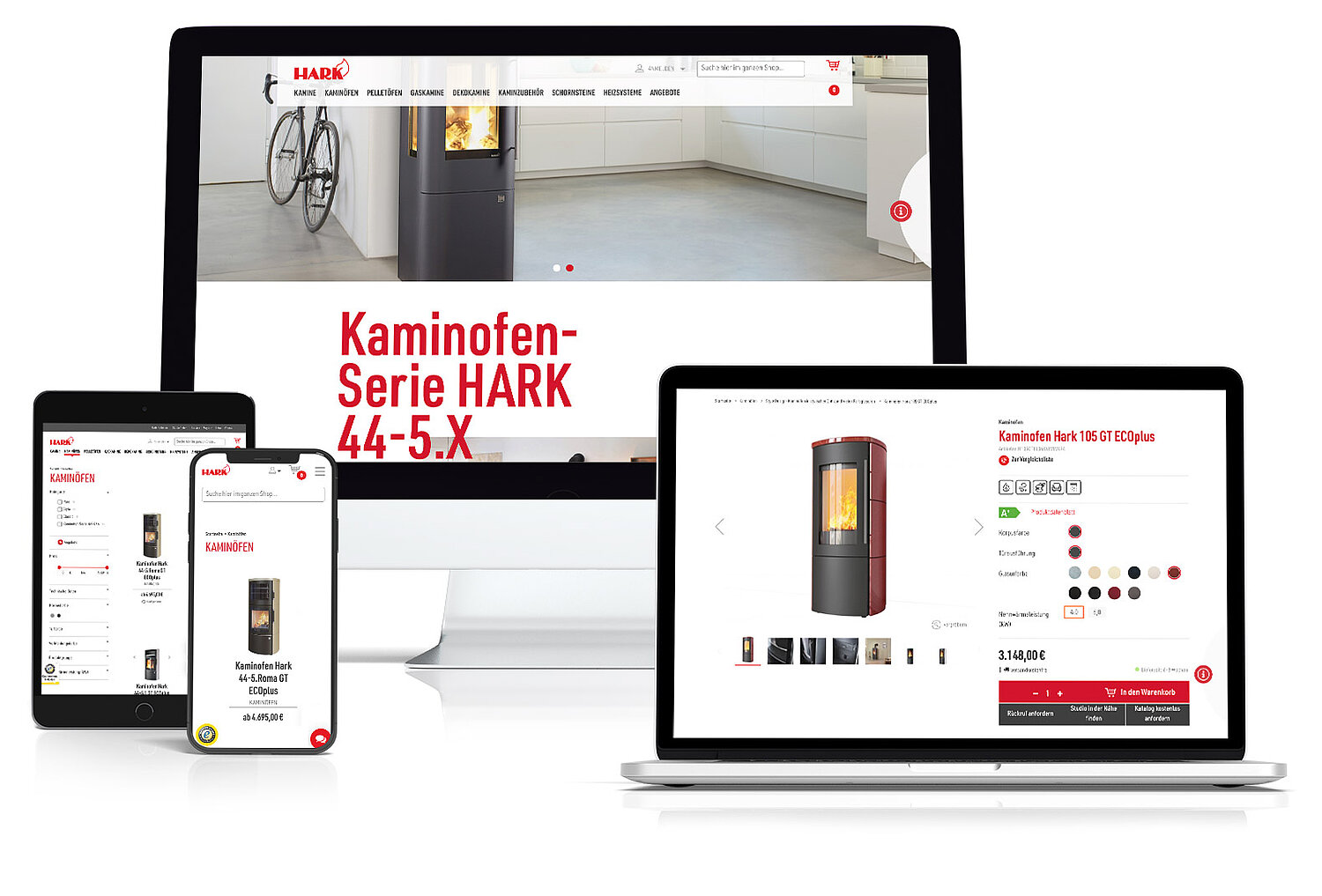 Hark - Magento Shop & TYPO3 Website