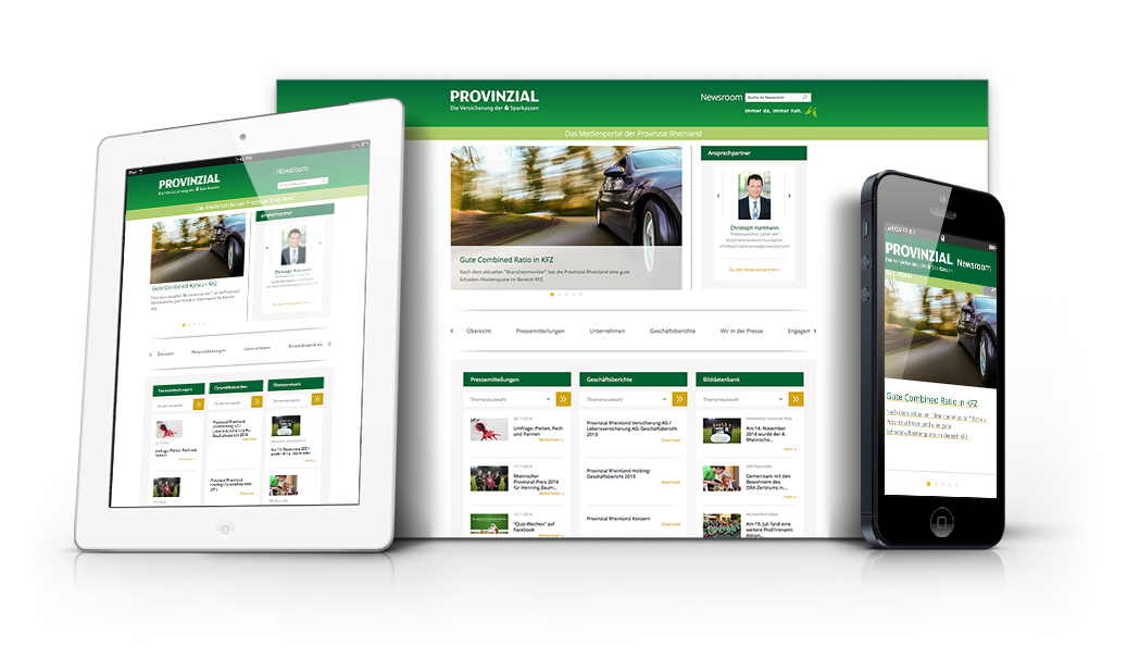 Provinzial Newsroom - TYPO3 Responsive Website
