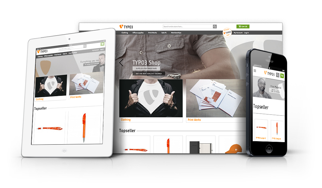 TYPO3 Merchandizing Shop